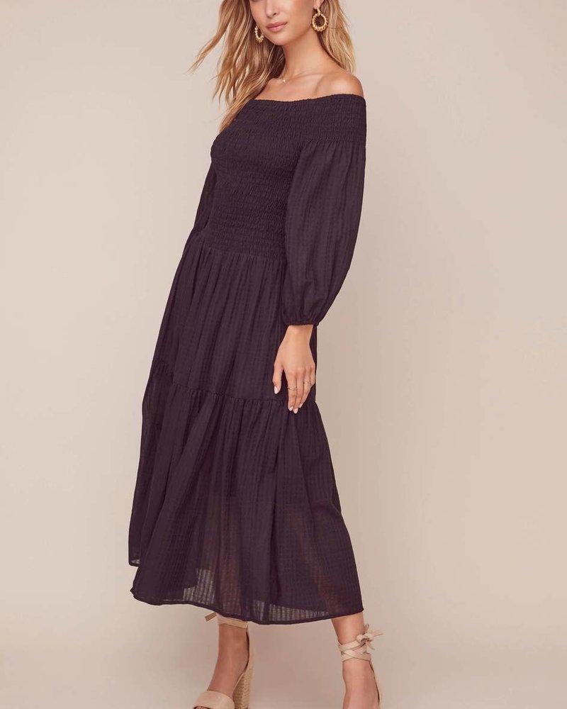 ASTR ASTR 'Utopia' Off Shoulder Midi Dress