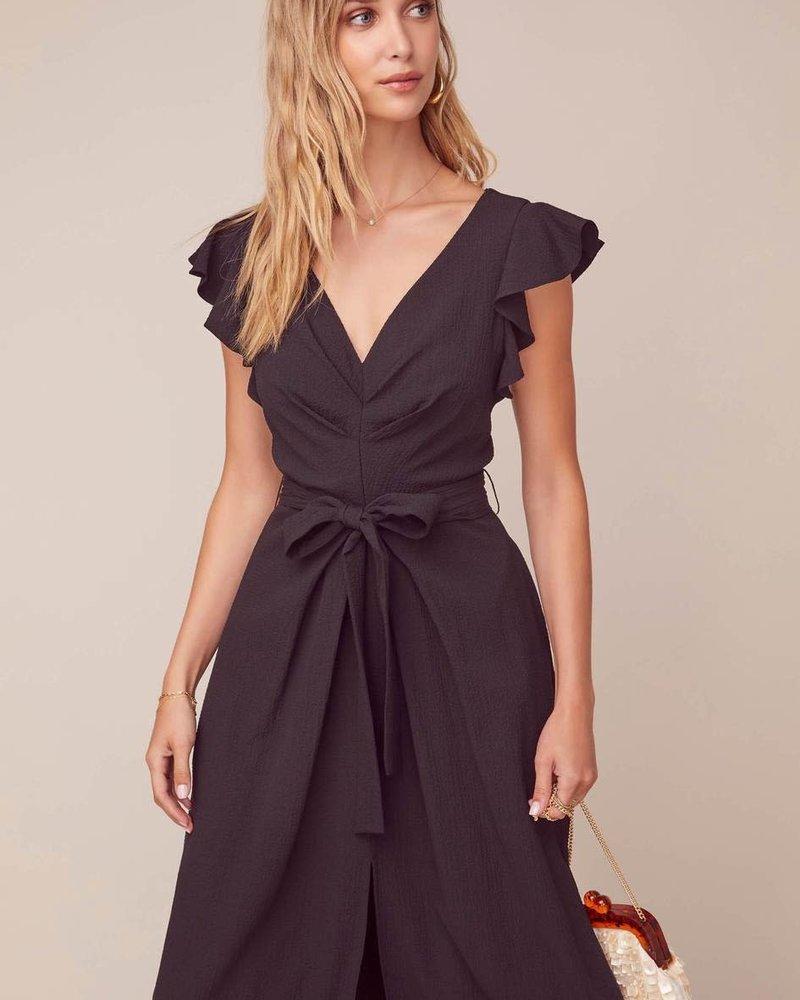 ASTR ASTR 'Euphoria' Ruffle Sleeve Midi Dress