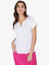 Sanctuary Clothing 'Flirt' Mix Tee  in White Jasmine