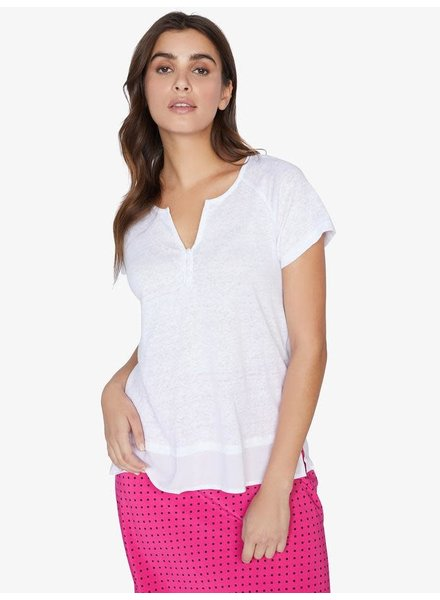 Sanctuary Clothing 'Flirt' Mix Tee  in White Jasmine