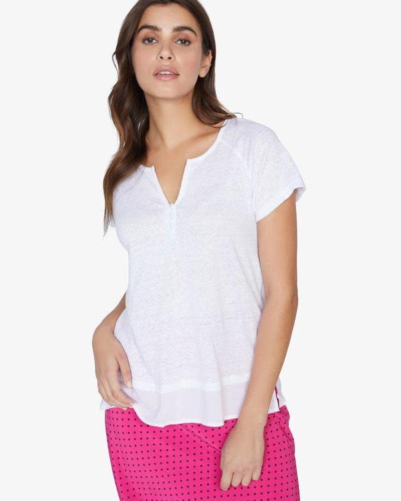 Sanctuary Clothing Sanctuary Clothing 'Flirt' Mix Tee  in White Jasmine