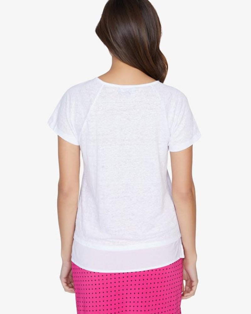 Sanctuary Clothing Sanctuary  'Flirt' Mix Tee  in White Jasmine