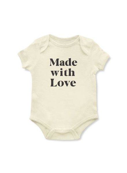 Emerson & Friends Short Sleeve 'Made with Love' Onesie