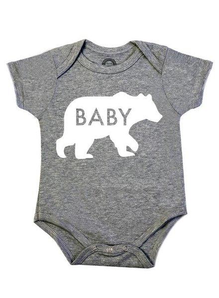 Emerson & Friends Short Sleeve 'Baby Bear' Onesie