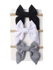 Emerson & Friends Bow Headband Set in Neutral (3 pc)