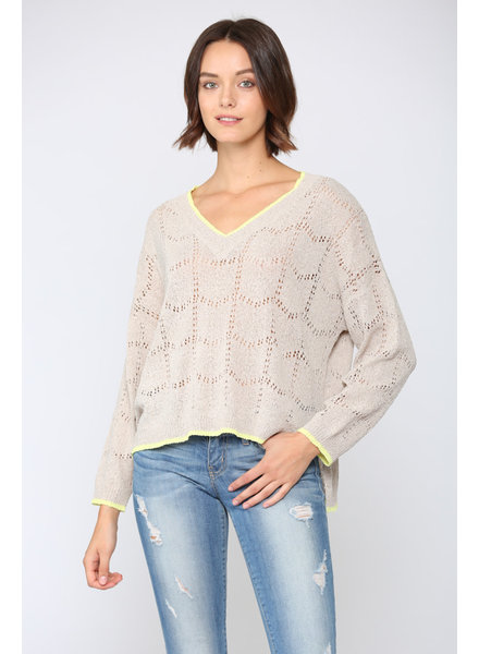 Fate by LFD 'Hint Of Lime' Sweater