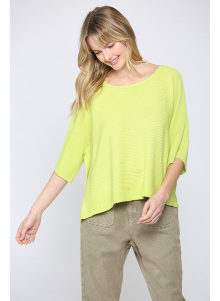 Fate by LFD Lime 'Cop the Crop' Batwing Top