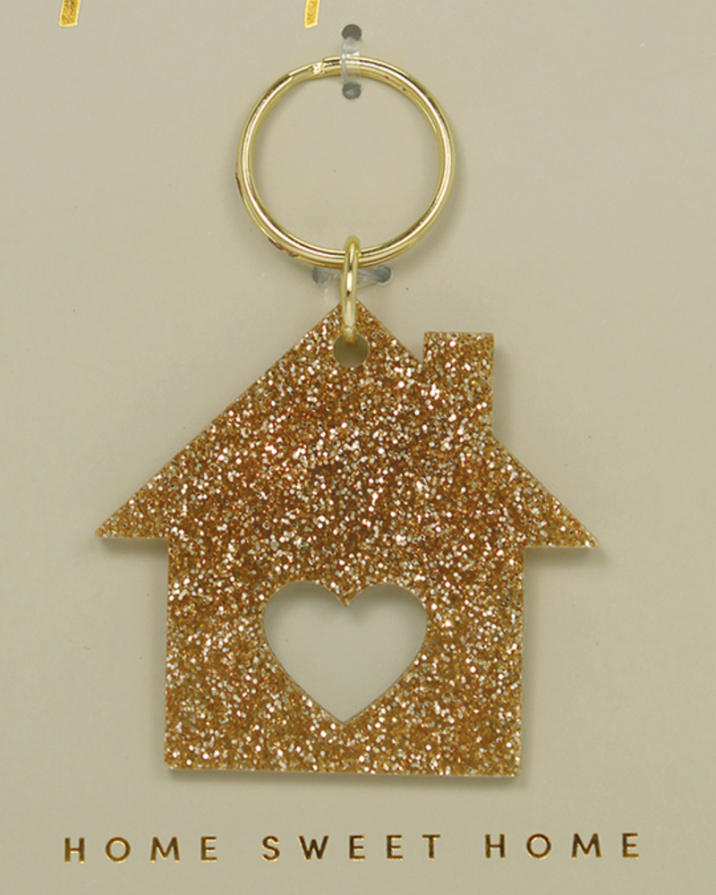 Lucky Feather Lucky Feather Glitter Home Keychain