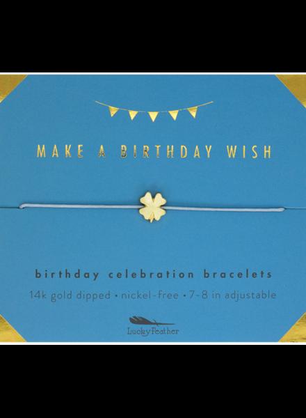 Lucky Feather Birthday Celebration Birthday Wish Bracelet