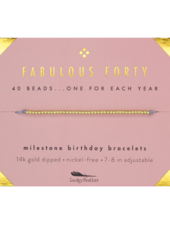Lucky Feather Milestone Birthday 'Fabulous Forty' Bracelet