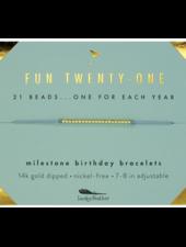 Lucky Feather Milestone Birthday 'Fun Twenty-One' Bracelet