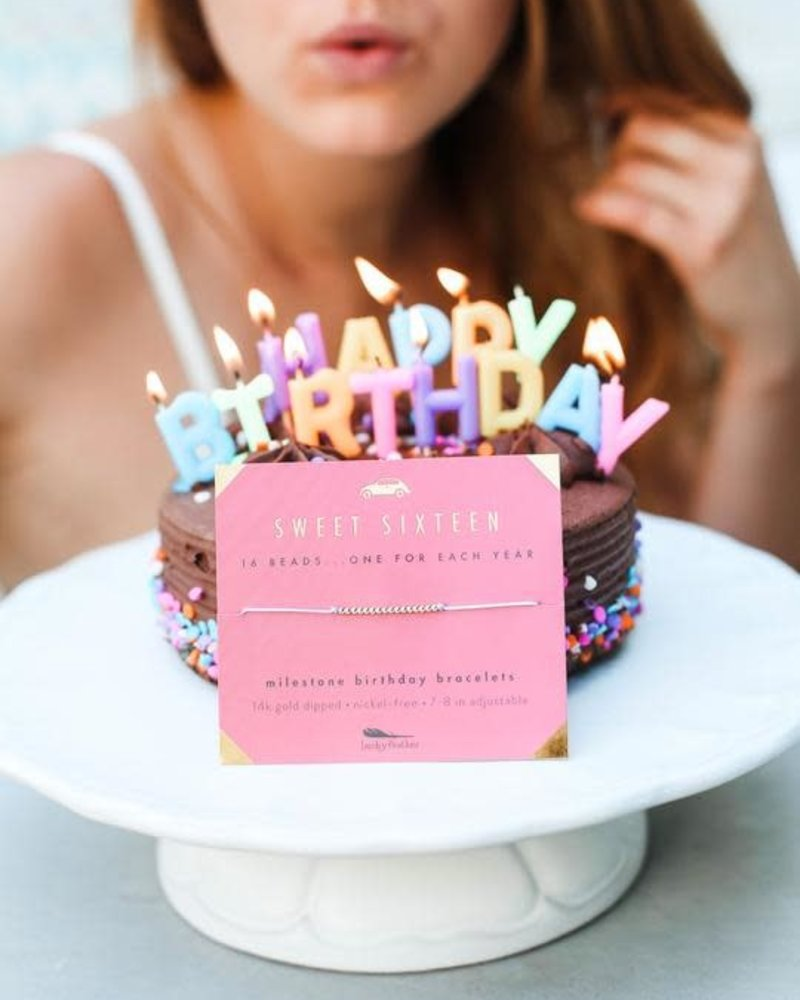Lucky Feather Lucky Feather Milestone Birthday 'Sweet Sixteen' Bracelet
