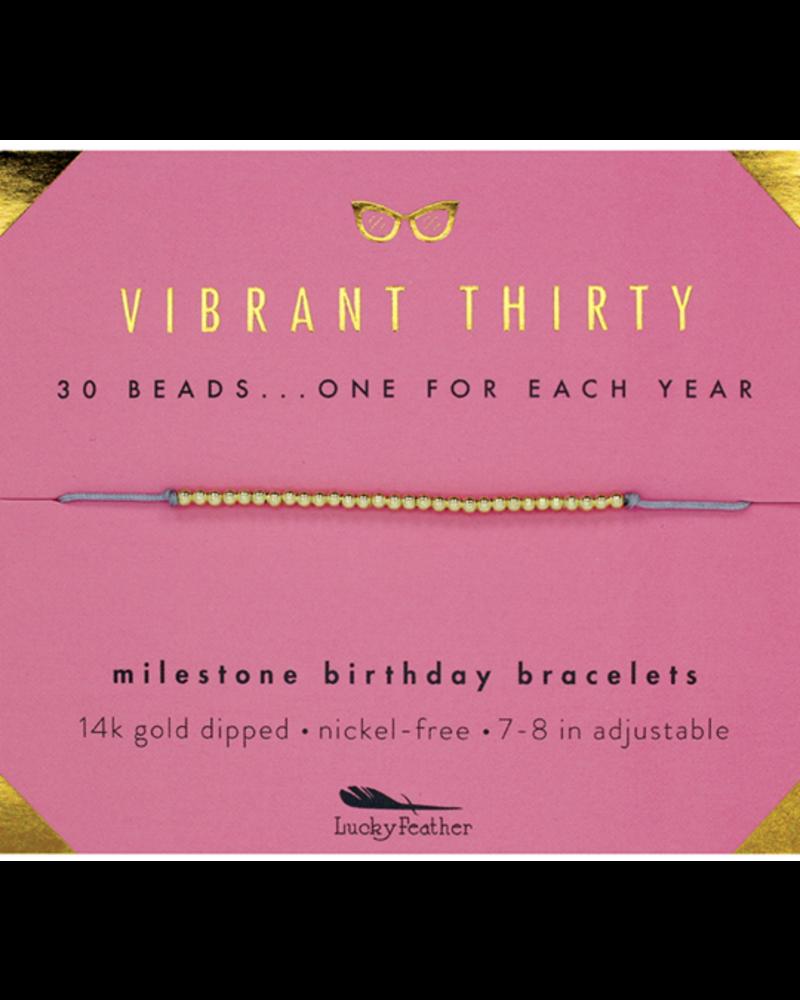 Lucky Feather Lucky Feather Milestone Birthday 'Vibrant Thirty' Bracelet