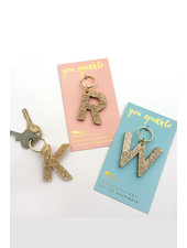 Lucky Feather Glitter Block Letter Keychain (More)