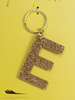 Lucky Feather Lucky Feather Glitter Block Letter Keychain