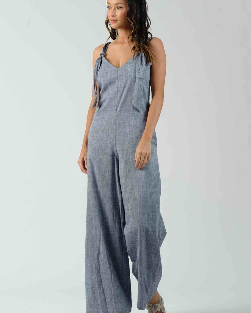 Lucca Couture Lucca 'Clover' Knot Jumpsuit **FINAL SALE**
