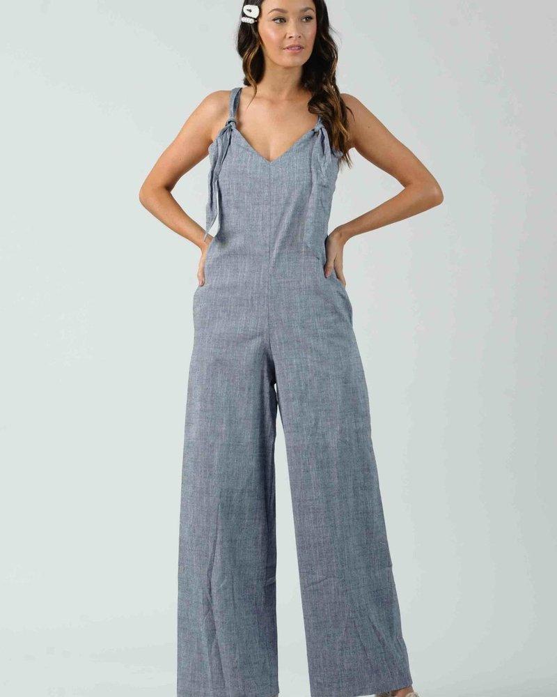 Lucca Lucca 'Clover' Knot Jumpsuit **FINAL SALE**
