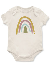 Emerson & Friends Short Sleeve Earthtone Rainbow Onesie