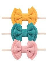 Emerson & Friends Waffle Bow Headband Set (3 pc)