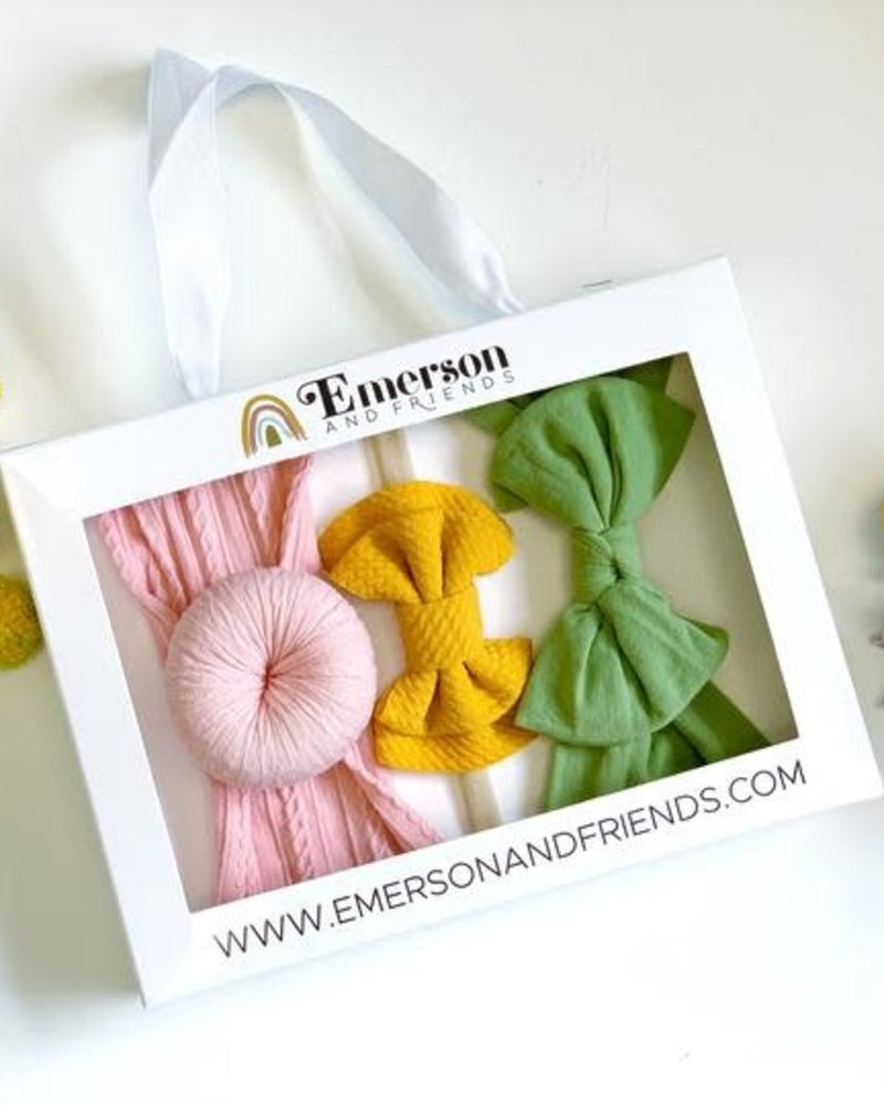 Emerson & Friends Emerson & Friends Spring Headband Set in Mustard  (3 pc)