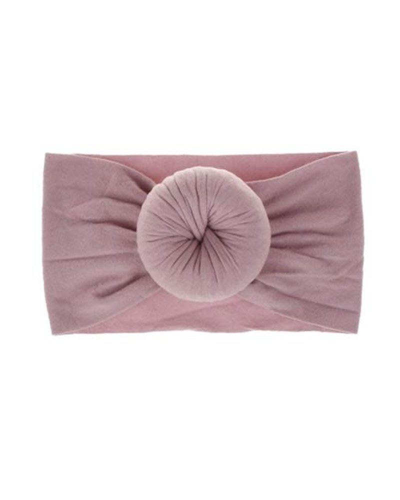 Emerson & Friends Emerson & Friends Mauve Bun Baby Headband