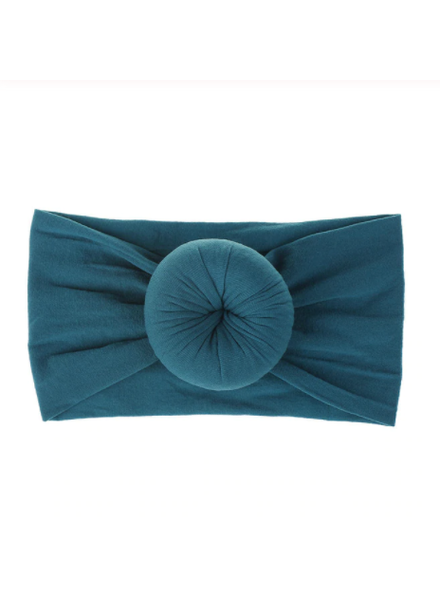 Emerson & Friends Teal Bun Baby Headband