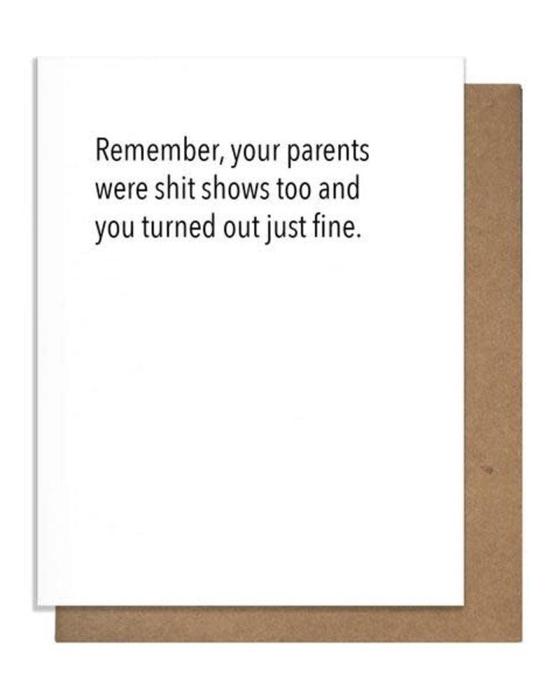 Pretty Alright Goods Pretty Alright Goods New Baby Card   Sh*t Show Parents