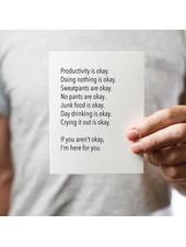 Pretty Alright Goods Card: Quarantine Okay