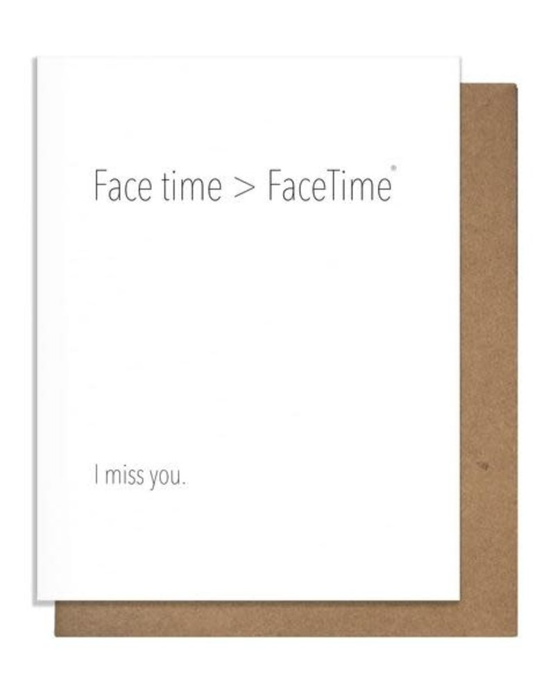 Pretty Alright Goods Pretty Alright Goods Love / Friendship Card | Face Time