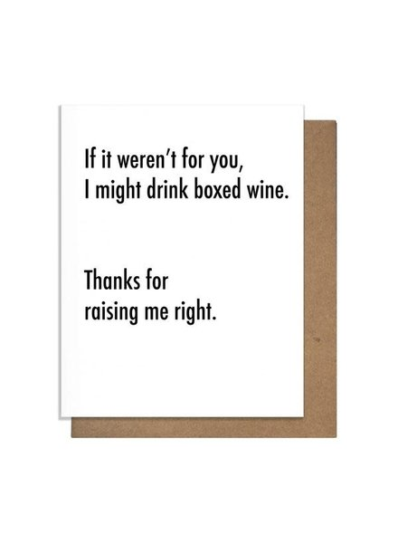 Pretty Alright Goods Card: Boxed Wine