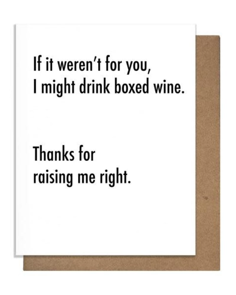 Pretty Alright Goods Pretty Alright Goods Mother's/Father's Day Card - Boxed Wine