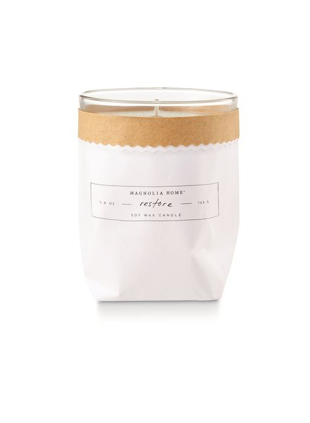 Magnolia Home Restore Kraft Textured Candle