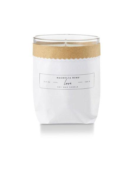 Magnolia Home Love Kraft Textured Candle