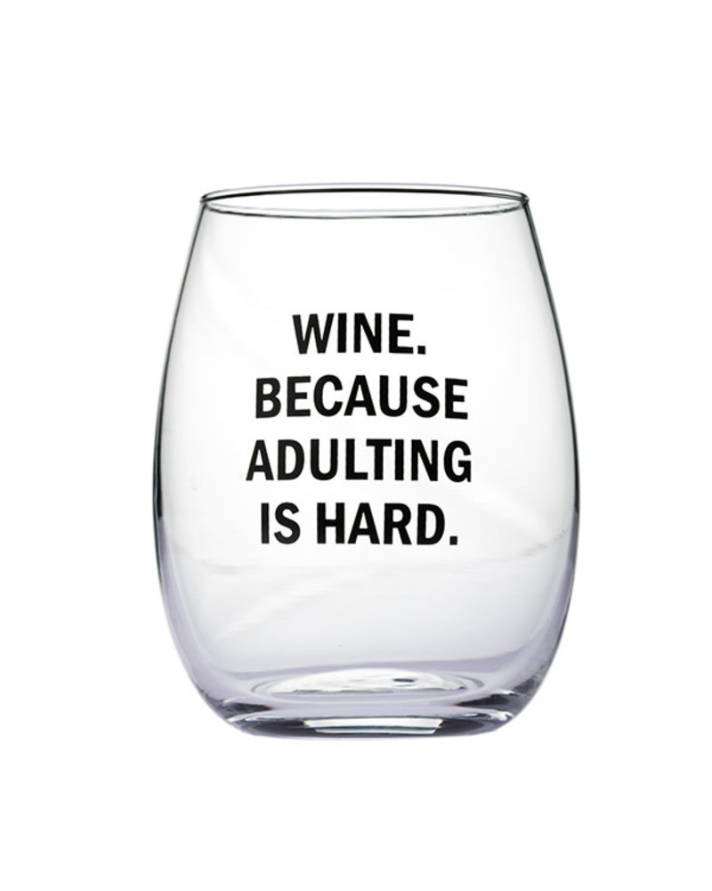 Snark City Snark City 'Wine. Because Adulting Is Hard' Wine Glass