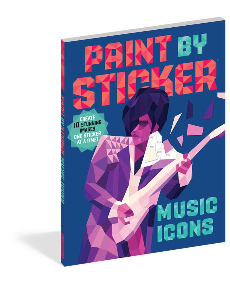 Workman Publishing Workman Paint by Sticker: Music Icons