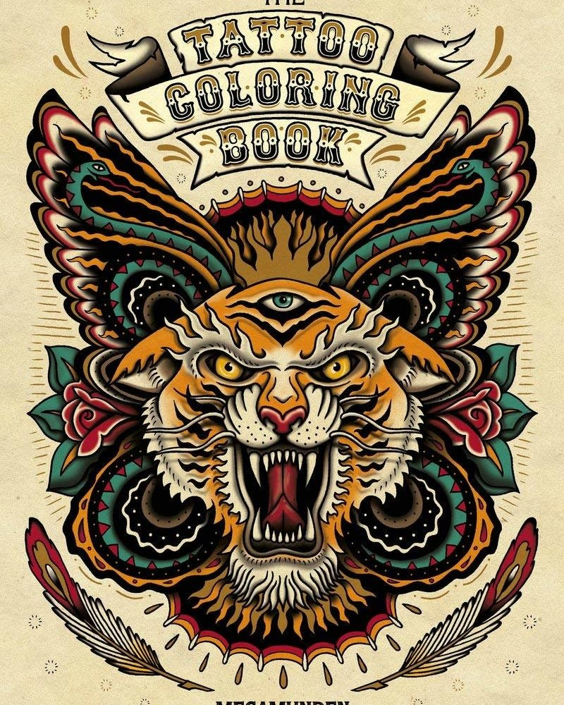 Chronicle Books Megamunden The Tattoo Coloring Book