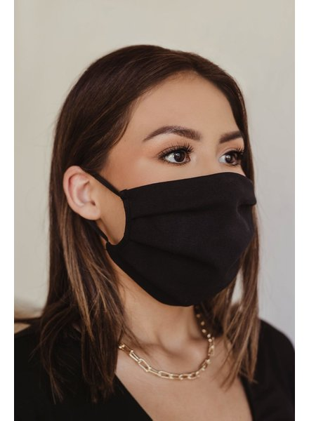 Veronica M Adult Black Face Mask