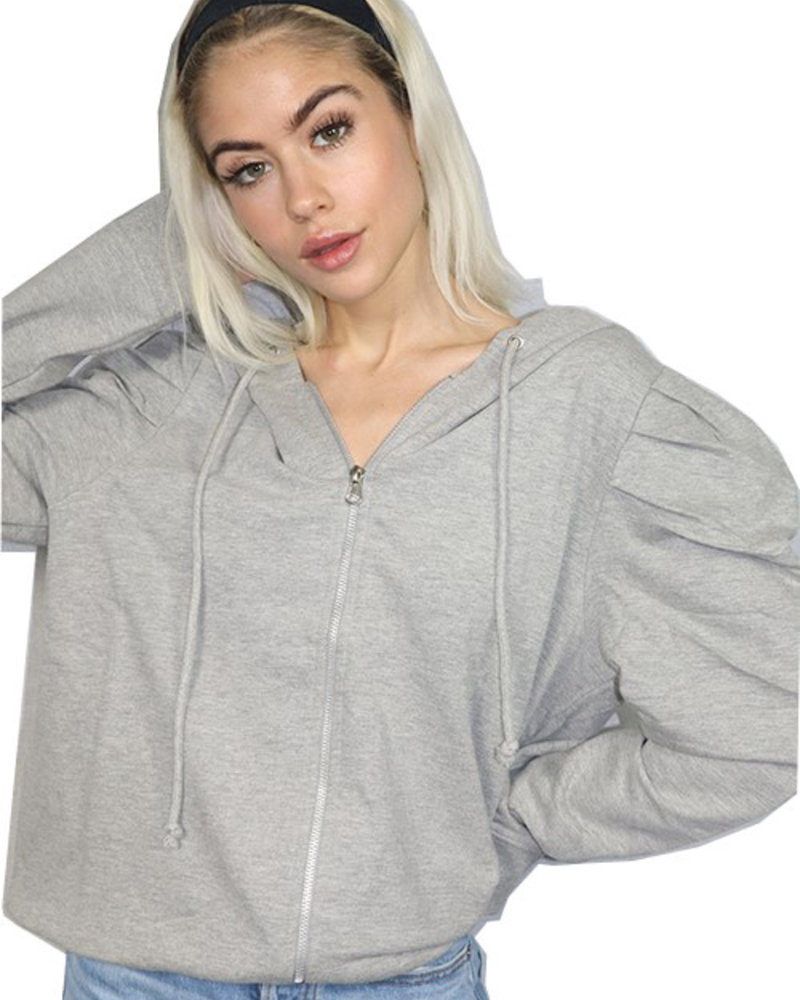 RD Style RD Style Heather Grey 'Just Sleeve It' Hoodie **FINAL SALE**