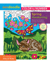 Macmillan Publishing Zendoodle Color-by-Number: Spring Awakening Coloring Book