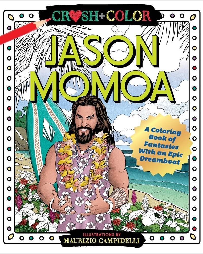 Macmillan Publishing Macmillan Crush & Color: Jason Mamoa Coloring Book