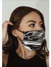 Veronica M Adult Grey Camo Face Mask