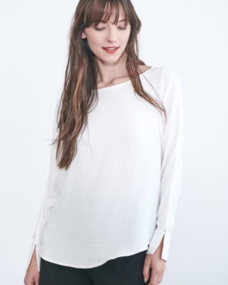 Week& Week& 'Just the Button' Button Sleeve Blouse (Small) **FINAL SALE**