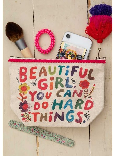 Natural Life 'Beautiful Girl' Canvas Pouch
