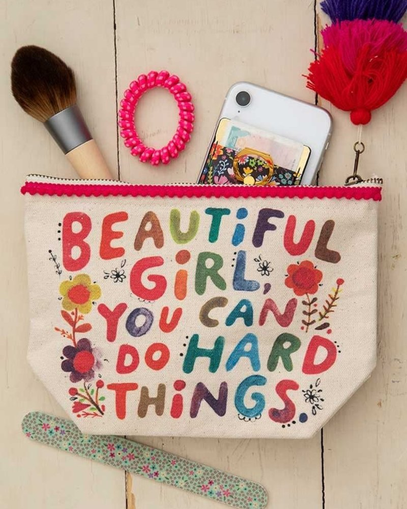 Natural Life Natural Life 'Beautiful Girl' Canvas Pouch