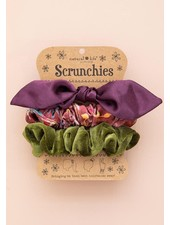 Natural Life Purple Bow Scrunchies (Set of 3)