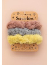 Natural Life Fuzzy Scrunchies (Set of 3)