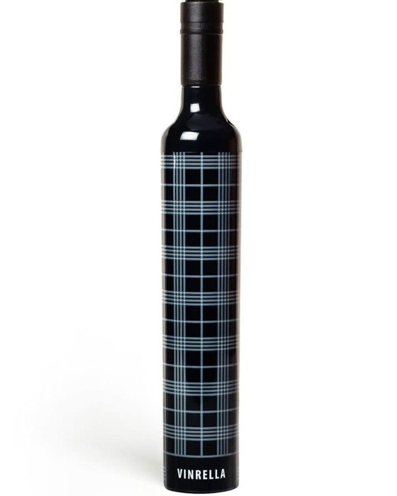 Vinrella Vinrella Black Plaid Wine Bottle Umbrella