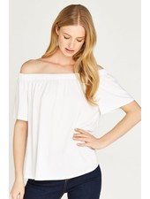 Apricot White 'Hanging Around' Off Shoulder Top