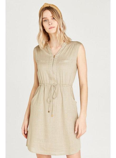 Apricot 'Toggle On My Zipper' Dress
