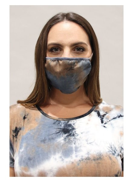 Coin1804 Adult Tie Dye Taupe Face Mask